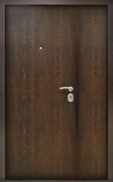 металлическая дверь двухстворчатая 1200